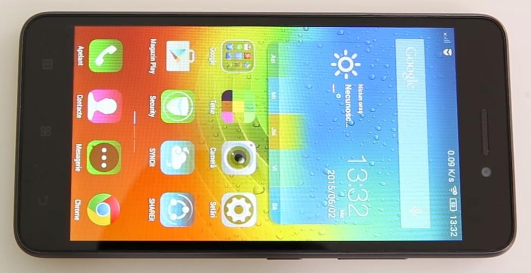 černý mobil Lenovo S60 Black - 621x320 pixelů