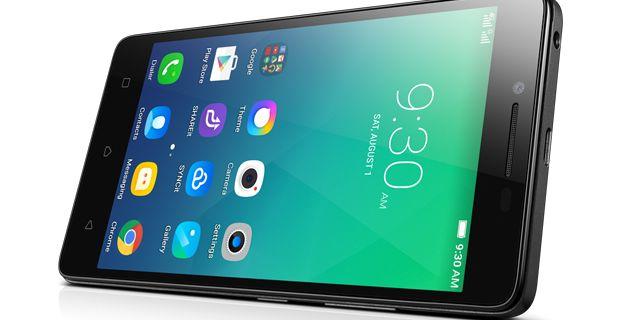 Černý smartphone Lenovo A6010 - 621x320 pixelů