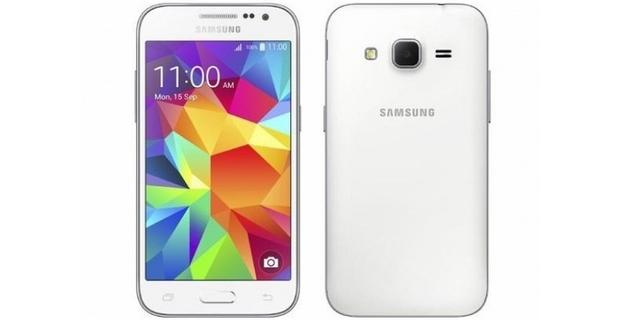 Mobilní telefon Samsung Galaxy Core Prima v bílé barvě - střed - 621x320 px